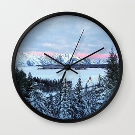 Pink Dawn Wall Clock
