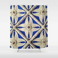 theater Shower Curtains featuring Warnors Theater Ceiling by Casual Glitz