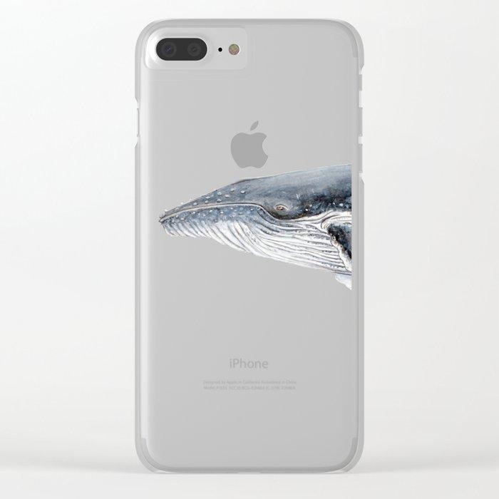 Humpback whale portrait Clear iPhone Case