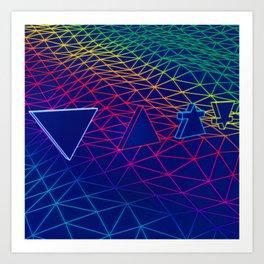Neon Elements Art Print