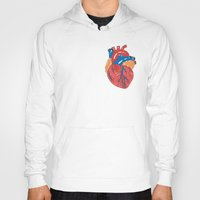 anatomical heart Hoodies featuring Anatomical Heart by KA Doodle