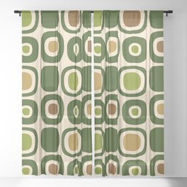 Mid Century Modern Garden Path Pattern 321 Sheer Curtain