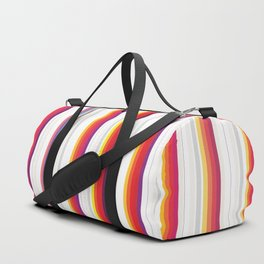 Colorful Stripes Barcode 80s Duffle Bag