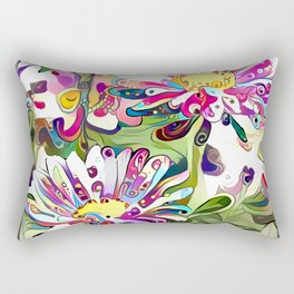 Vibrant Daisy Rectangular Pillow