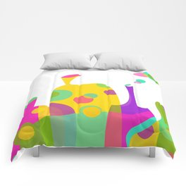 Colorful Funky Bottle Shapes I Comforters