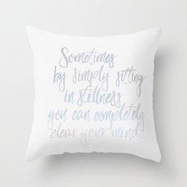 Sitting In Stillness Throw Pillow