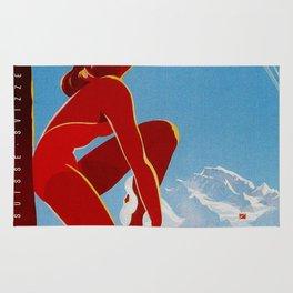 Wengen Switzerland - Vintage Travel Rug
