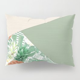 Combined pattern with pineapples. patchwork. Pillow Sham