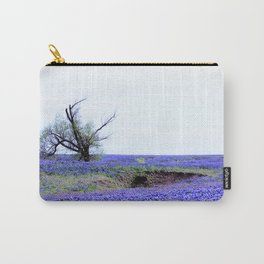 Lonely Tree & Bluebonnets Carry-All Pouch