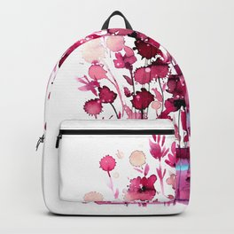 Floral Charm No.1D by Kathy Morton Stanion Backpack