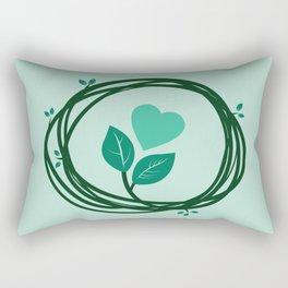 Cute heart in a nest Rectangular Pillow