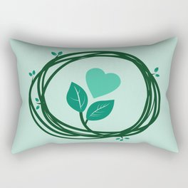 Cute heart in a nest Rectangular Pillow