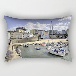 Tenby Harbour Beach  Rectangular Pillow