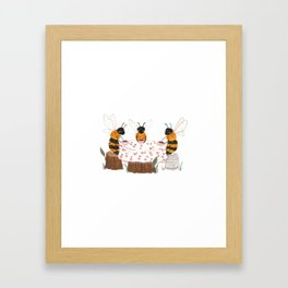 Bees Having Tea Framed Art Print