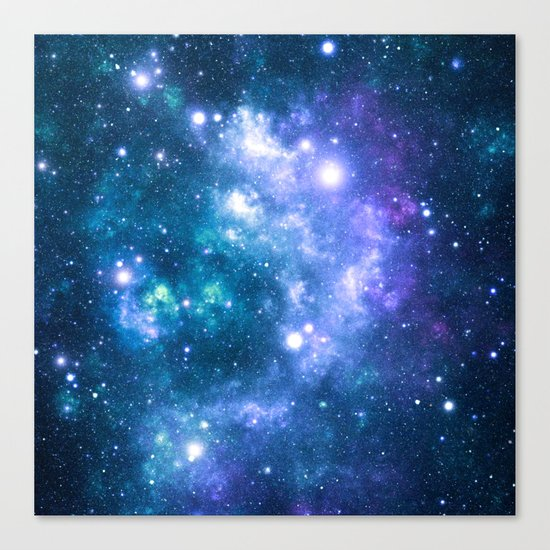 Violet Teal Galaxy Nebula Canvas Print