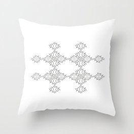 electronic shapes Throw Pillow