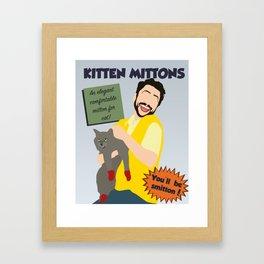 Kitten Mittons Framed Art Print