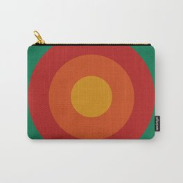 Bequia - Classic Colorful Abstract Minimal Retro 70s Style Graphic Design Carry-All Pouch