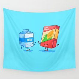 Milk and Corn (Best friends. Character set.) Wall Tapestry
