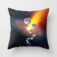 sci fi Throw Pillows featuring Sci-Fi Space Universe by  Agostino Lo Coco