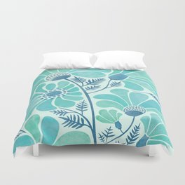 Himalayan Blue Poppies Duvet Cover