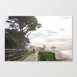 Surfer Walking to the Beach Canvas Print