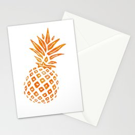 Orange Swirl Pineapple - Single Stationery Cards