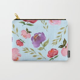 Spring Bouquet Baby Blue Carry-All Pouch