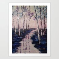 Reflections in Violet Art Print