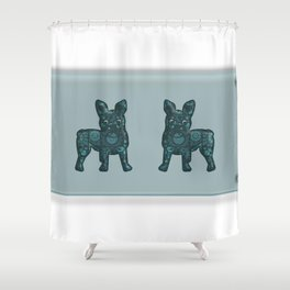 Patches French Bulldog Twins Shower Curtain