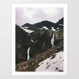 Chugach falls Art Print