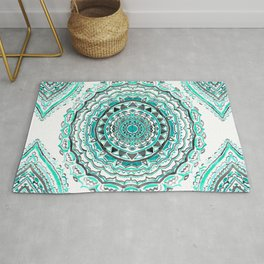 Supernova-In Teal, Aqua, & Mint Rug