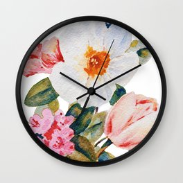 Loose Spring Bouquet Wall Clock