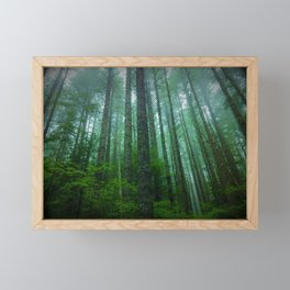 Misty Mountain Forest Framed Mini Art Print