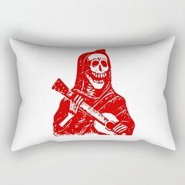 Grim Reaper With Guitar Rectangular Pillow