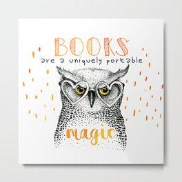 Book Owl Metal Print