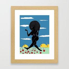 2017 SUN LOVES BLACK art by Marcellous Lovelace Framed Art Print
