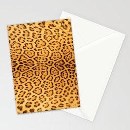 Brown Beige Leopard Animal Print Stationery Cards