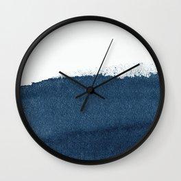 Indigo Art / Minimal Navy Print Wall Clock