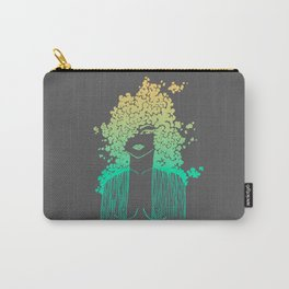 Silhouette gradient of a girl Carry-All Pouch