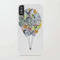 bows iPhone & iPod Cases featuring Bows & Butterflies by Romina M.