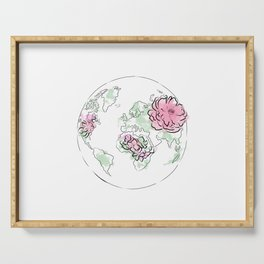WORLD Map Pink #globe #7 Serving Tray