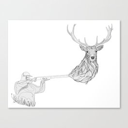 Armed but unarmed Canvas Print
