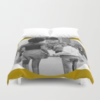 woody allen Duvet Covers featuring WOODY ALLEN IN NEW YORK by VAGABOND