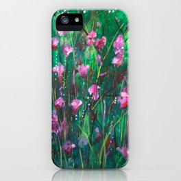 """WOODLAND SPRING"" Original Painting by Cyd Rust iPhone Case"