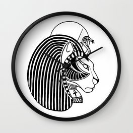 Tefnut Egyptian Goddess Wall Clock