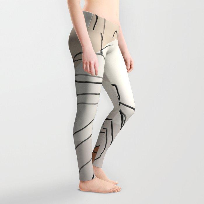 Minimal Abstract Art- Monstera Leggings
