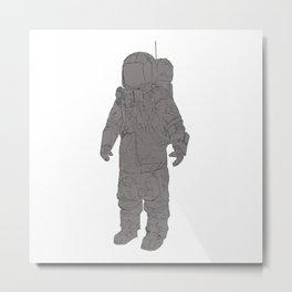 Astronaut White Metal Print