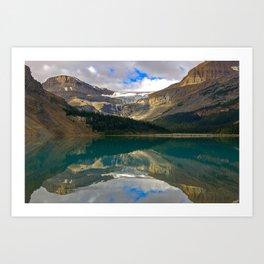 Bow Lake, Rocky Mountains Art Print