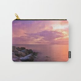 USA Photography - Sunset By The Sea Carry-All Pouch